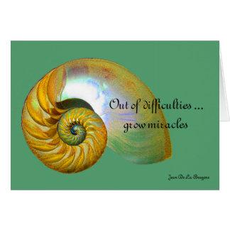 A09 nautilus Shell - tarjeta inspirada 2 de la