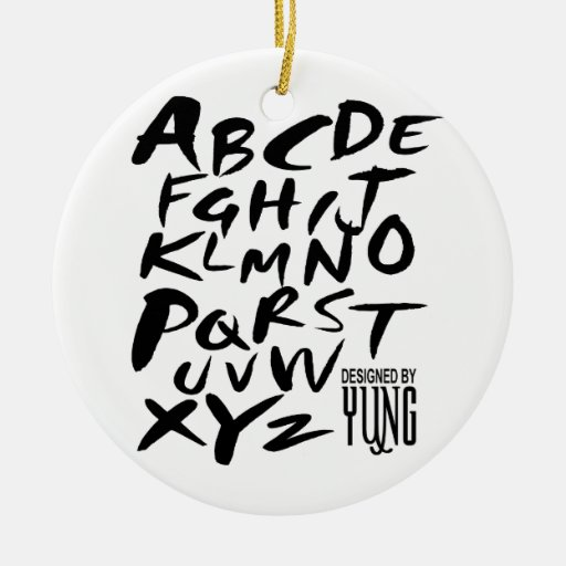 A a letras alfabéticas de Z Ornatos