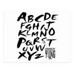 A a letras alfabéticas de Z Tarjeta Postal