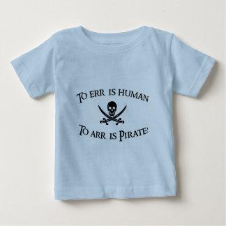 ¡A Arr es el pirata! Camiseta De Bebé
