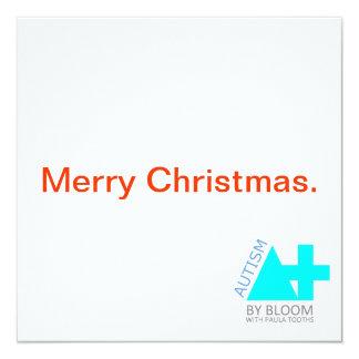 A+ Autismo más tarjeta de Navidad minimalista Invitación 13,3 Cm X 13,3cm