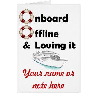 A bordo y fuera de línea tarjetas