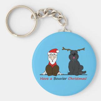 A Bouvier Christmas Llavero