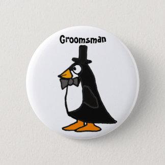 A.C. botón del padrino de boda del pingüino