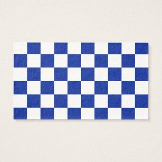 A cuadros - azul blanco e imperial tarjeta de negocios