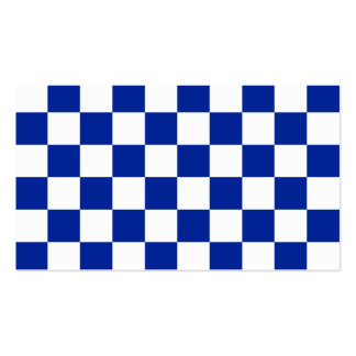 A cuadros - azul blanco e imperial tarjetas de visita