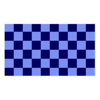 A cuadros - azul claro y azul marino tarjetas de visita
