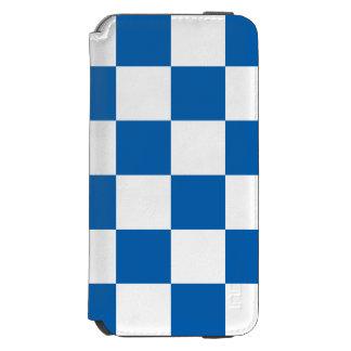 A cuadros azul funda cartera para iPhone 6 watson