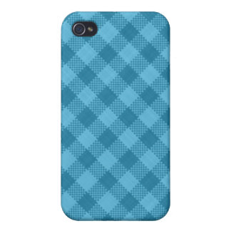 A cuadros azul iPhone 4 cárcasas