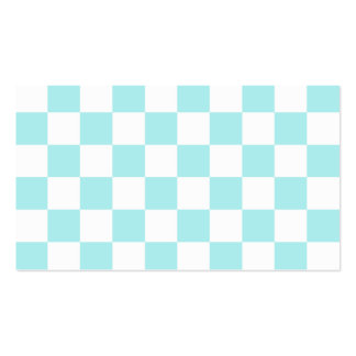 A cuadros - blanco y azul claro tarjetas de visita