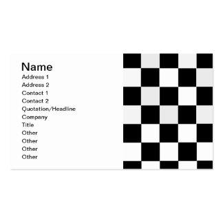 A cuadros blanco y negro tarjetas de visita