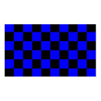 A cuadros - negro y azul tarjetas de visita