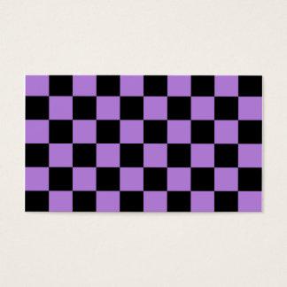 A cuadros - negro y lavanda tarjeta de negocios