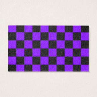 A cuadros - negro y violeta tarjeta de negocios