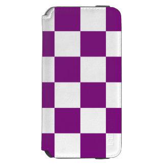 A cuadros púrpura funda cartera para iPhone 6 watson