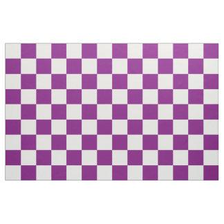 A cuadros púrpura tela