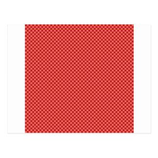 A cuadros - rojo en colores pastel y Firebrick Postal