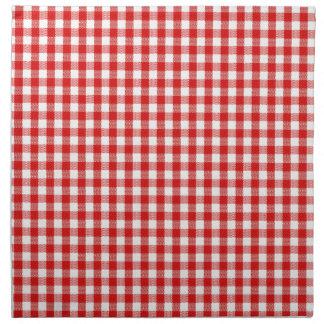 Servilletas de tela a cuadros rojo dise os de for Papel pintado rojo y blanco