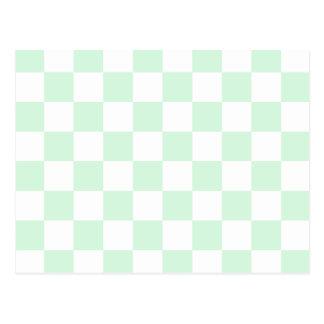 A cuadros - verde blanco y en colores pastel postal