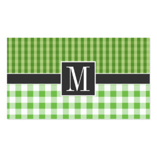 A cuadros verde elegante tarjeta de visita