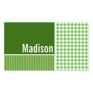 A cuadros verde; Guinga Tarjetas De Visita