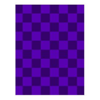 A cuadros - violeta violeta y oscura postal