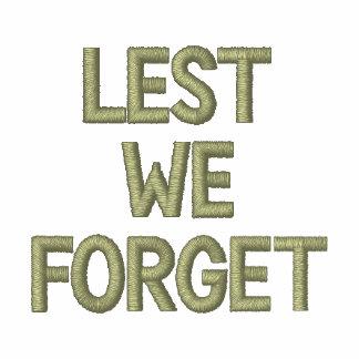 A fin de olvidemos tributo bordado de los militare camiseta polo bordada