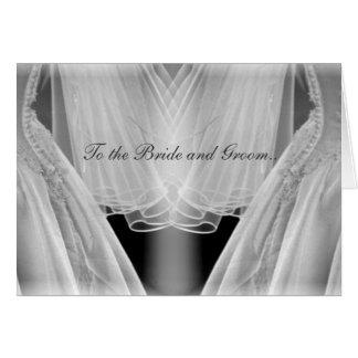 A la novia y al novio. tarjeta de felicitación