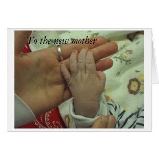 A la nueva madre tarjeta de felicitación