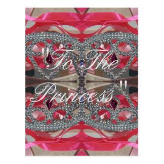 """A la princesa "" Postal"