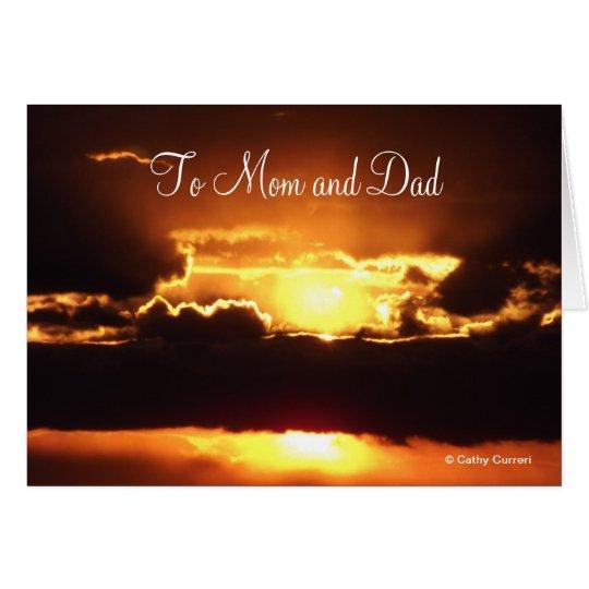 A la tarjeta del aniversario de la mamá y del papá