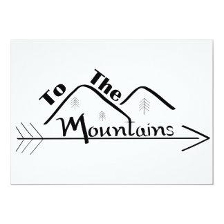 A las tarjetas de las montañas
