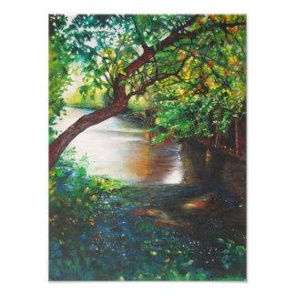 A lo largo de la impresión de la foto del río del