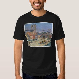 A lo largo del frente del río, Nueva York circa Camisas