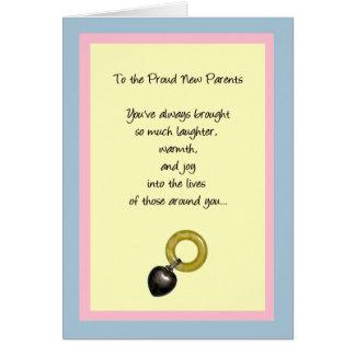 A los nuevos padres orgullosos tarjeta de felicitación