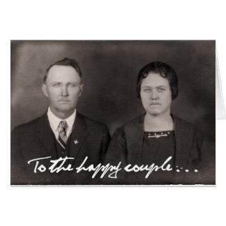 A los pares felices.  Tarjeta de felicitación