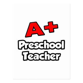 A más profesor preescolar tarjeta postal