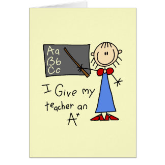 A más profesor tarjeta pequeña