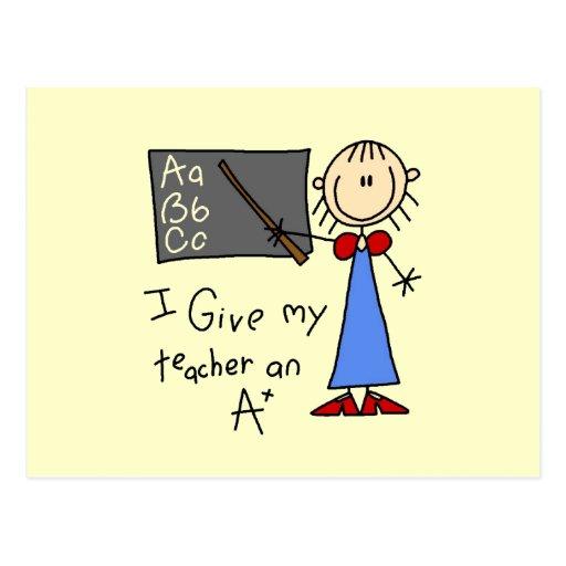 A más profesor tarjeta postal