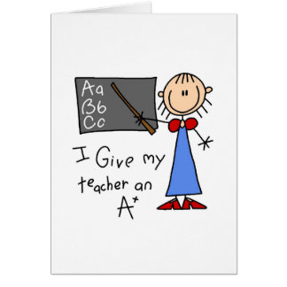 A más profesor tarjeton