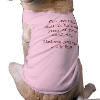 A menos que usted posea un pitbull prenda mascota