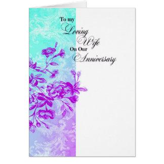 A mi aniversario cariñoso de la esposa tarjeta de felicitación