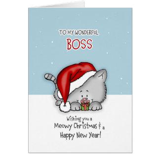 A mi Boss maravilloso - tarjeta de Navidad del