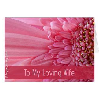 A mi esposa cariñosa tarjeta de felicitación