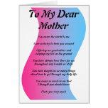 A mi estimada madre tarjeta de felicitación