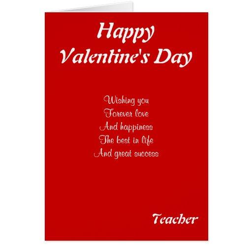 A mi profesor el el día de San Valentín Tarjetón
