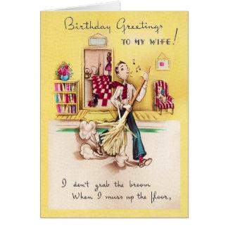 A mi tarjeta de cumpleaños de la esposa