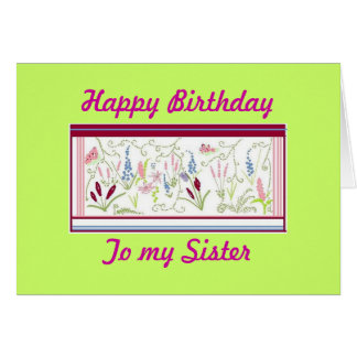 A mi tarjeta de cumpleaños de la hermana