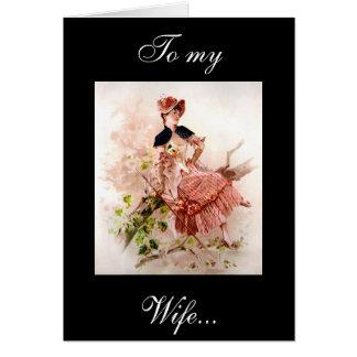 A mi tarjeta de la esposa
