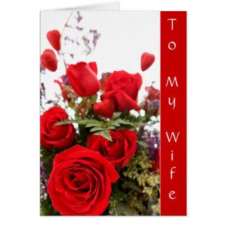 A mi tarjeta del amor de la esposa
